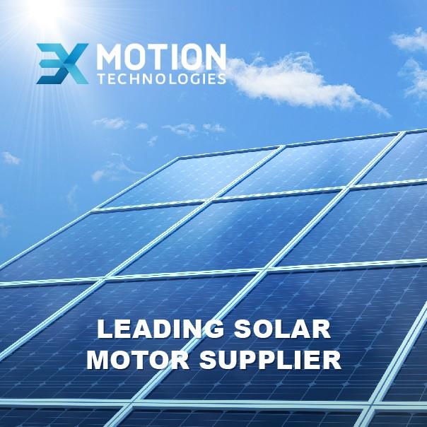3X Motion DC motor in solar tracker application